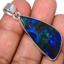 Azurite In Malachite - Morenci Mines 925 Silver Pendant Jewelry AP208040