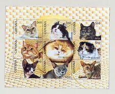 Guyana #3102-3105 Cats 2v M/S of 9 & 2v S/S Imperf Chromalin Proofs