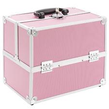 AREBOS Beauty case make up valigia porta trucco - portagioie - multiuso Rosa