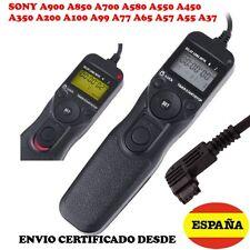 MANDO INTERVALOMETRO SONY A900 A850 A700 A580 A550 A450 A350 A200 A100 A99 A77