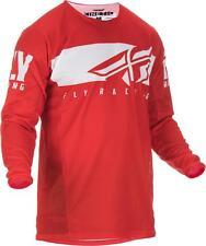FLY MX KINETIC SHIELD JERSEY RED/WHITE SZ XL 372-422X
