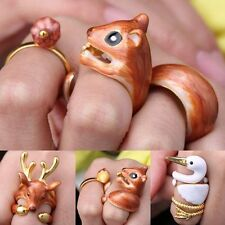 3Pcs/Set Cute Animal Deer Adjustable Finger Rings Christmas Party Gifts New