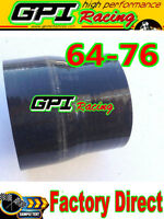 GPI 2.5 to 3 inch Straight Silicone Hose Reducer 64-76mm Coulper pipe Black*