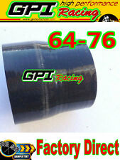 NEW 2.5 to 3 inch Straight Silicone Hose Reducer 64-76mm Coulper pipe Black