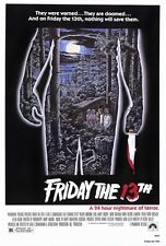 PARAMOUNT PICTURES FRIDAY THE 13TH MOVIE POSTER 24x36 NEW FAST FREE SHIPPING