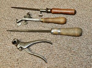 VINTAGE MIXED LOT  MORRILL SAW TOOTH SETTING TOOL-SAW BLADE FILES-MORE