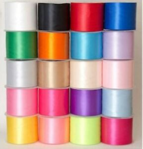 Satin Ribbon Extra Wide Sash 4 inch 100mm 20 Colours  Wedding Hen Nights Partys