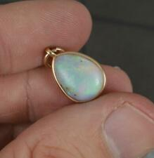 More details for antique 9 carat gold and natural colourful opal pendant circa 1900
