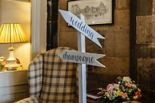 Handpainted Wooden Wedding Sign