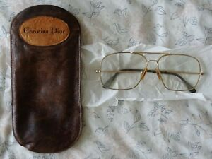 Leather Christian Dior Glasses Pouch + Used Reading glasses