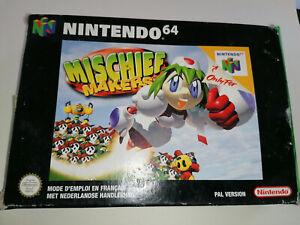 Mischief Makers (Nintendo 64, N64) Authentic -- Complete in Box