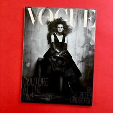 Vogue Magazine Italia Haute Couture Rianne van Rompaey by Peter Lindbergh NEW