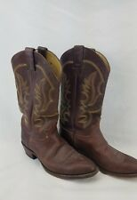 Justin Men's Western Boot - Chocolate Brown Mallorca 1472 Size 9 D