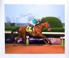 AMERICAN PHAROAH VICTOR ESPINOZA SIGNED PRINT POSTER CANVAS 20X24 HORSE RACING