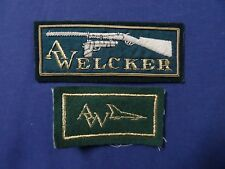 VINTAGE AW A WELCKER GUN  rifle PISTOL   PATCH   Cloth  Patch Badge * LOT OF 2