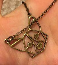 New! Pembroke Cardigan Welsh Corgi Head Necklace Antique Bronze Plated Unique!