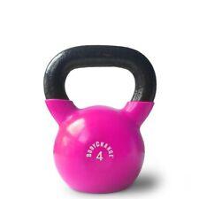 Vinyl Kettlebell (4kg) - Pink - Kugelhantel für dein perfektes Home Workout!