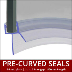 Pre Curved Shower Seals | For Screens, Doors or P Shaped Baths | 4 to 8mm Glass