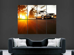 BMW E30 COUPE 3 SERIES CAR POSTER SUNSET RETRO WALL ART PRINT IMAGE