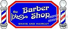 "The Barber Shop Decal 36"" Men's Hair Cuts Vinyl Sign for Window Storefront Van"