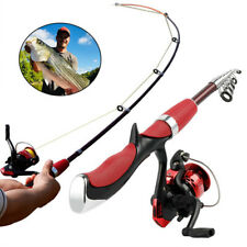 Telescopic Spinning Fishing Rod&Reels Set Combo Carbon Fishing Pole Tackle Tools