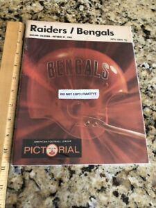 Oakland Raiders vs Bengals 1968 Program Pictorial Ex Cond NFL AFL HOF Al Davis