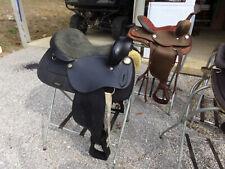 """Used 15"""" black Western saddle"""