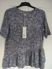 ROCHA JOHN ROCHA GREY MULTI CONFETTI PRINT TOP. UK 20, EUR 46-48, US 16. BNWT