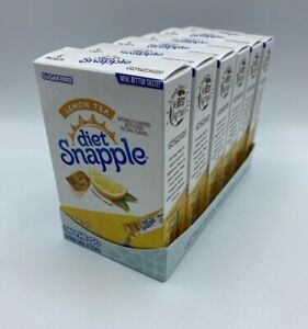 Diet Snapple Lemon Tea Lot of 6 Boxes SINGLES ON THE GO Drink Mix Packets