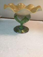 Authentic L.T.C Favrile Ruffled Vase Compote 5493 J