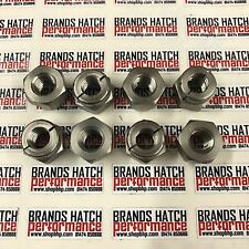 8 X Ford Sierra and Escort RS Cosworth Stainless Self Locking Exhaust Nuts