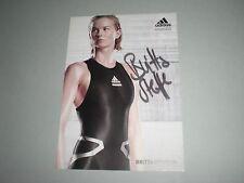 Britta Steffen Schwimmen signed signiert autograph Autogramm auf Autogrammkarte