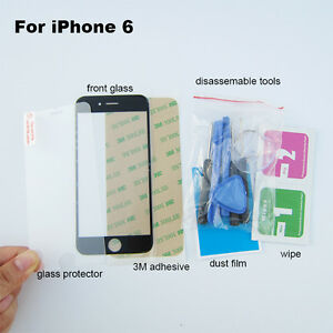 Black outer glass cover replacement parts for iphone 6 4.7inch screen repair