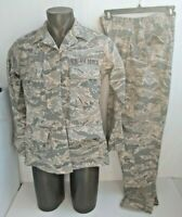 US AIR FORCE WOMAN'S Coat Jacket 10L & Pants 12 Short Utility Camouflage Pattern