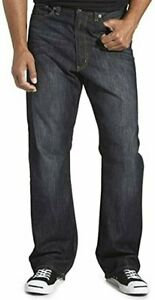 True Nation Men's Big and Tall Jeans Relaxed Fit Straight Leg Cotton Denim NEW