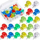 50 Pieces Jumbo Push Pins Giant Pushpins 1 Inch Map Thumb Tacks Plasti