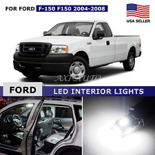 15x White Interior LED Lights Package Kit for 2004-2008 Ford F-150 F150 + TOOL