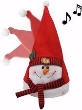Chicago Blackhawks Santa Hat Animated Musical 4789