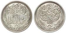 10 PIASTRES AH1335-1917 EGITTO EGYPT (KM#319) ARGENTO SILVER #994