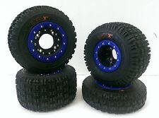 Hiper CF1 Beadlock Rims Maxxis XM MX Tires Front/Rear MX Kit Suzuki LTR450 450