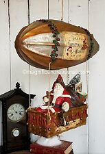 Bethany Lowe Santa Toys in Dirigible Christmas Old World Zeppelin Blimp St Nick