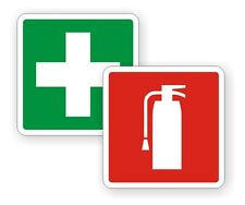 "2"" Fire Extinguisher / FIrst Aid Kit Vinyl Decals / Stickers Labels Jeep JK 4x4"