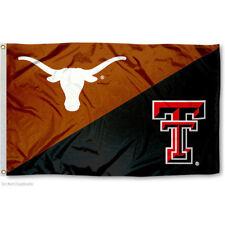 Texas vs Texas Tech House Divided 3x5 Flag and Banner