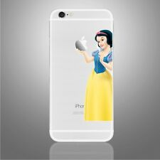 IPhone 6/6s/7/8/X BIANCANEVE ammirando Adesivo Decalcomania Apple DISNEY ART (NUOVO)
