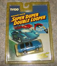 """NEW"" TYCO SUPER DUPER DOUBLE LOOPER BLUE ZR-1 CORVETTE 440X2 HO SLOT CAR"