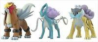 Bandai Pokemon Scale World 1/20 Figure Jyoto Raikou Entei Suicune Set