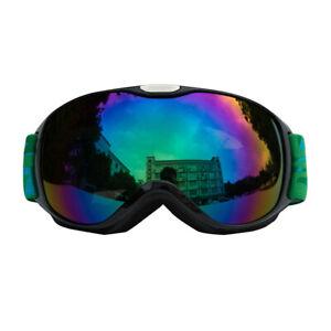 Childs Kids Winter Snow Sports Goggles Ski Snowboard Sun Glasses Eyewear Chrome