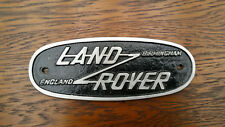 Land Rover Series Birmingham Badge Plaque complete with fixing kit