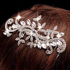 Wedding Bridal Crystal Rhinestone Diamante Hair Comb Clip Tiara Headpiece New *