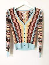NWT Target Missoni Collab Women's Size XS Brown Chevron Stripe Cardigan Sweater